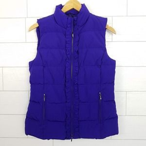 Talbots size Small Puffer Vest Purple $139 NWT
